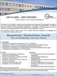 Stellenausschreibung Bauzeichner*in