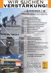 Stellenausschreibung Beruf am Bau