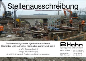 Stellenausschreibung Bautechniker*in
